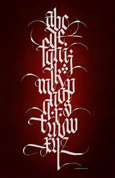CALLIGRAPHY •༄• Alphabet ~ Letters Interacting ~ Vertical 11x17 Master ~ by Steve Czajka on Flickr