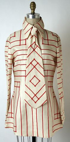 Ensemble, Rudi Gernreich, early 1970s, American, silk and plastic, via Metropolitan Museum of Art