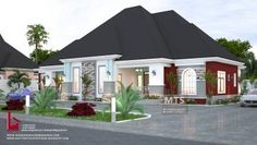 FLOOR PLAN DETAILS Entrance porch Ante room Visitor's W.c Bedroom 1 Main lounge Dining Kitchen Veranda Utility lobby Store Laundry Bedroom 2 Master's bedroom Bedroom 4 Wcs = […] 3 Bedroom Bungalow, Modern Bungalow House, Best House Plans, Modern House Plans, Dream Home Design, My Dream Home, One Storey House, House Plans Mansion, Architectural House Plans