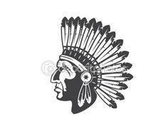 Native american indian szef nakrycia głowy — Stock Illustration #76974743