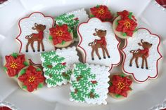 Fawn in Christmas Snow | Cookie Connection