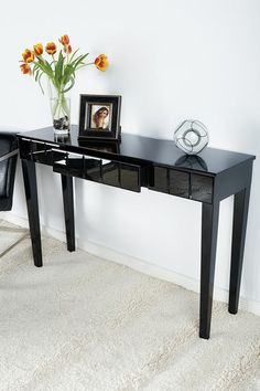 Diamond Black Mirrored Console Table By Posh Home Accents On Hautelook Furniture Unique