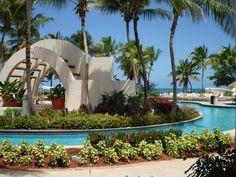 This hotel pool is amazing, Puerto Rico