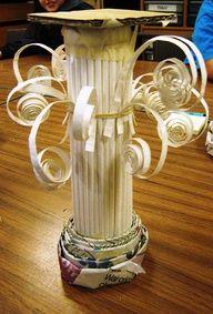 paper mache greek pillars