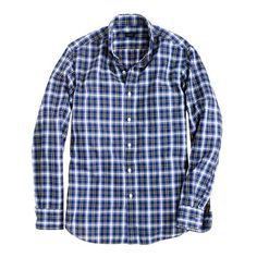 J.Crew Secret Wash shirt in vintage navy check