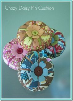 Pin cushions galore - most easy to make.