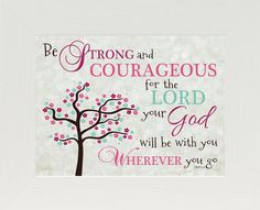 Be Strong and Courageous Pink SS9936