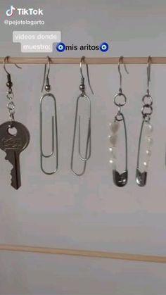 Weird Jewelry, Cute Jewelry, Jewelry Crafts, Beaded Jewelry, Jewelry Accessories, Handmade Jewelry, Funky Earrings, Diy Earrings, Nagel Tattoo