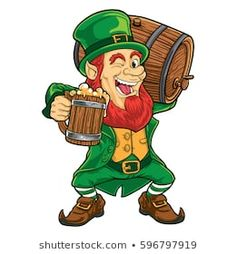 Find leprechaun vector stock images in HD and millions of other royalty-free stock photos, illustrations and vectors in the Shutterstock collection. Leprechaun Tattoos, Leprechaun Girl, Irish Leprechaun, Pink Drawing, St Patricks Day Quotes, St Patrick's Day Decorations, Irish Cottage, Irish Blessing, Saint Patrick