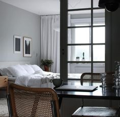 The Lovely Home of Swedish Stylist Elin Odnegard (Nordic Design) Colour Blocking Interior, Bed Frame Sizes, 1970s House, 2 Bedroom House, Master Bedroom, Eclectic Furniture, Nordic Design, Decoration, House Design