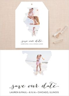 State themed save the dates http://www.minted.com/el/wed_wedchicks12015?utm_source=weddingchicks&utm_medium=onlineadv&utm_campaign=12015