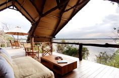 African Safari Glamping at Sand Rivers Selous in Tanzania Glamping, Silves Algarve, Cool Places To Visit, Places To Go, Portal, Honeymoon On A Budget, Honeymoon Ideas, Vacation Ideas, Lets Go