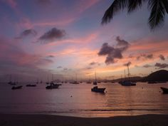 sunset in Martinique