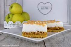 Jablkový koláč so snehom Krispie Treats, Rice Krispies, Vanilla Cake, Cheesecake, Food And Drink, Sweets, Cooking, Desserts, Apples