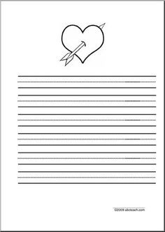 3 line writing paper