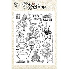 @Overstock - These clear art stamps from Crafty Secrets are perfect for adding a special touch to your scrapbook pages, greeting cards or any other paper craft project. These art stamps come mounted on a heavy weight plastic sheet for secure storage.http://www.overstock.com/Crafts-Sewing/Crafty-Secrets-Tea-with-Alice-Large-Sheet-Clear-Art-Stamps/5754603/product.html?CID=214117 $17.49