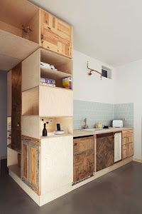 salvage Plus One // Berlin Accommodation. salvage Plus One // Berlin Accommodation. Küchen Design, Design Case, Design Hotel, House Design, Design Ideas, Wood Design, Kitchen Cabinet Design, Kitchen Interior, Eclectic Kitchen