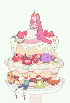 Find images and videos about adventure time, cartoon network and princess bubblegum on We Heart It - the app to get lost in what you love. Cartoon Adventure Time, Adventure Time Cakes, Adventure Time Characters, Time Cartoon, Cartoon Shows, Adventure Time Finn, Marceline, Cartoon Network, Adventure Time Personajes
