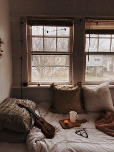 dusk to dawn – cozy home comfy Room Ideas Bedroom, Bedroom Decor, Room Planning, Cozy Room, Aesthetic Bedroom, Dream Rooms, My New Room, Cozy House, Decoration