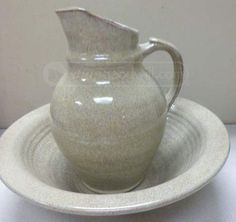 Old Time Pottery Pitcher and Basin
