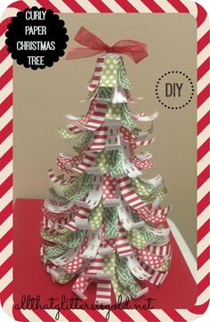 12 Days Of Christmas Crafts Day 7: Curly Paper Christmas Tree