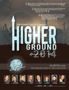 TBC Higher Ground Music Conference, April 10-12, 2014 in Lufkin, TX!