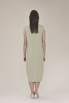 Striped dress with side pockets 125.00$