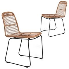 Faux Rattan Dining Chairs (Set of by Dwell Home. Get it now or find more Dining Chairs at Temple & Webster. Next Dining Chairs, Rattan Dining Chairs, Dinning Table, Dining Chair Set, Outdoor Chairs, Kitchen Dining, Outdoor Furniture, Outdoor Decor, Dining Room