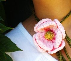 Instant Download Knit Flower Pattern Peony Knitted by ohmay
