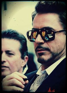 Robert Downey Jr.  Reflection of Iron Man