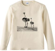 駝鳥ロボ 002 / モノクローム : エルマウ [半袖Tシャツ [6.2oz]] - デザインTシャツマーケット/Hoimi(ホイミ)