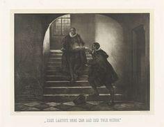 Jan Mesker | Moord op de prins van Oranje, 1584, Jan Mesker, Emrik & Binger, 1853 - 1890 | De prins van Oranje te Delft vermoord door Balthasar Gerards, 10 juli 1584. De prins wordt op de trap neergeschoten door Balthasar Gerards.
