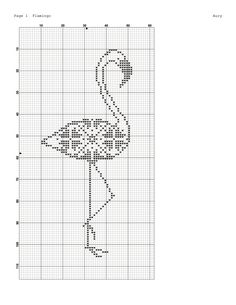 Gallery.ru / Фото #284 - В основном птицы/freebies - Jozephina Cross Stitch Bird, Cross Stitch Animals, Counted Cross Stitch Patterns, Cross Stitch Charts, Cross Stitching, Cross Stitch Embroidery, Embroidery Patterns, Crochet Birds, Flamingo Pattern