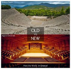 2500 Years of Theatre, Music & Art. Meet the World in... Greece!  Epidaurus Theatre Megaron Athens Concert Hall