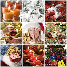 Christmas collage by Dušan Zidar, via Dreamstime