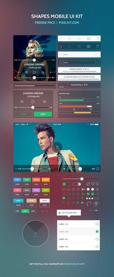 Shapes Mobile UI Kit | GraphicBurger
