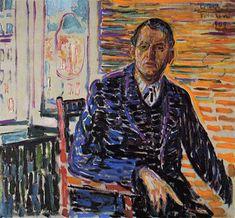 Munch, Edvard (1863-1944) - 1909 Self Portrait in Copenhagen by RasMarley, via Flickr