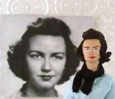 Flannery O' Conner Doll Miniature Literary Art by UneekDollDesigns, $46.00