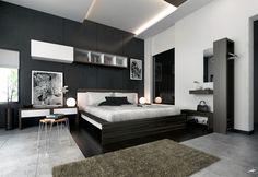 grey black white master bedroom design decorating ideas modern concept