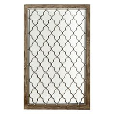 29 X 47-in Metal Grid Mirror