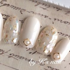 False nails have the advantage of offering a manicure worthy of the most advanced backstage and to hold longer than a simple nail polish. The problem is how to remove them without damaging your nails. Bridal Nails, Wedding Nails, Jamberry Wedding, Bling Wedding, Rhinestone Wedding, Wedding Bride, Love Nails, Pretty Nails, Diy Nails