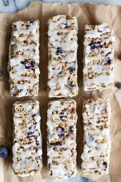Blueberry Vanilla Greek Yogurt Granola Bars.  Perfect for a quick snack before a sports event or after for a pick me up.  Delicious.  @Half Baked Harvest