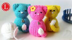 LOOM KNITTING Toy Tiny Kitty Cat Doll on Small Circle Looms Pattern Amig...