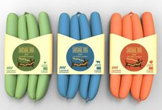 Packaging design for 'Sausage Dog' by Federica Fragapane, Chiara Goose, Andrea Gross Gaiani, Kerman Gomez, Luciano Ingenito Cool Packaging, Food Packaging Design, Brand Packaging, Branding Design, Packaging Ideas, Food Branding, Product Packaging, Beverage Packaging, Packaging Inspiration