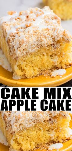 EASY APPLE CAKE WITH CAKE MIX RECIPE- Includes a crumble topping crumb toping and sugar glaze It s soft moist loaded with fresh apples cinnamon and made with a cake mix Perfect old fashioned doctored cake mix recipe From Apple Dessert Recipes, Cake Mix Recipes, Köstliche Desserts, Fruit Recipes, Delicious Desserts, Easy Apple Desserts, Apple Recipes Using Cake Mix, Sweet Desserts, Recipes Dinner