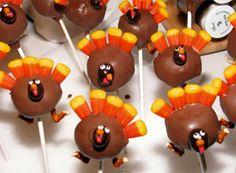 Cake ball Turkeys!!