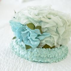 Vintage flower hat by WhiteandFaded on Etsy