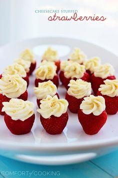 Cheesecake Stuffed Strawberries from @Georgia Johnson