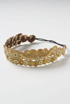 double strand headband. gold is fabulous!