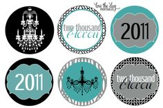 free tiffany's printables | New Year's Eve Party Ideas & Free Printable Labels | Living Locurto ...